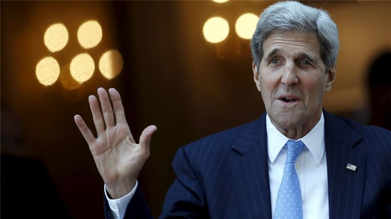 "US Secretary of State John Kerry said ""major issues"" remain to be solved [Reuters]"