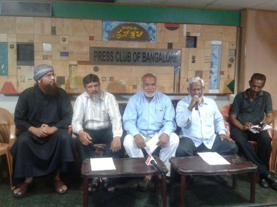 (L-R) Umar Shariff (DIET), Mr. Mahir (MPJR), Syed Mohammed Iqbal (KMMM), Syed Shafiullah (JDS), Mr. Khalid (MPJR)