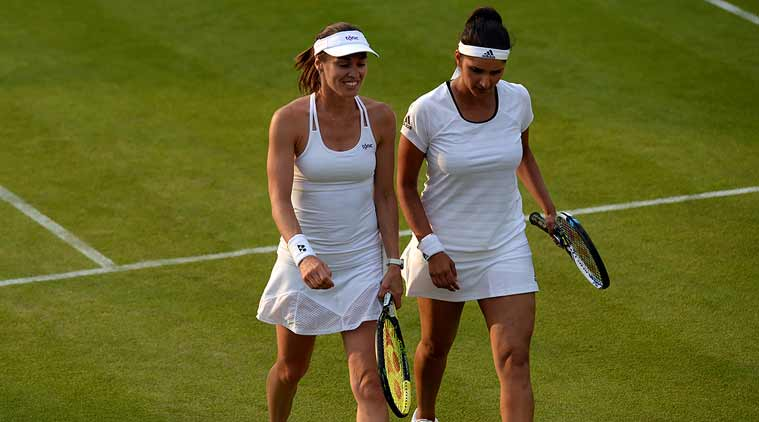 Sania and Martina will next take on Kimiko Date-Krumm and Francesca Schiavone. Photo: Wimbledon