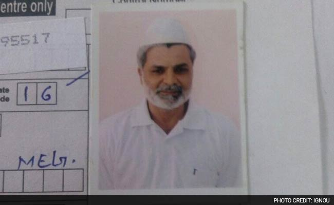 Yakub Memon's photograph on his IGNOU records.