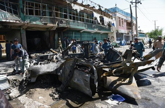 At least 10 were killed and scores wounded in a bombing attack at a market. Image used for illustrative purposes. (AFP/File)