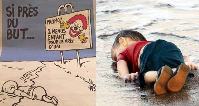 Charlie Hebdo Aylan Kurdi