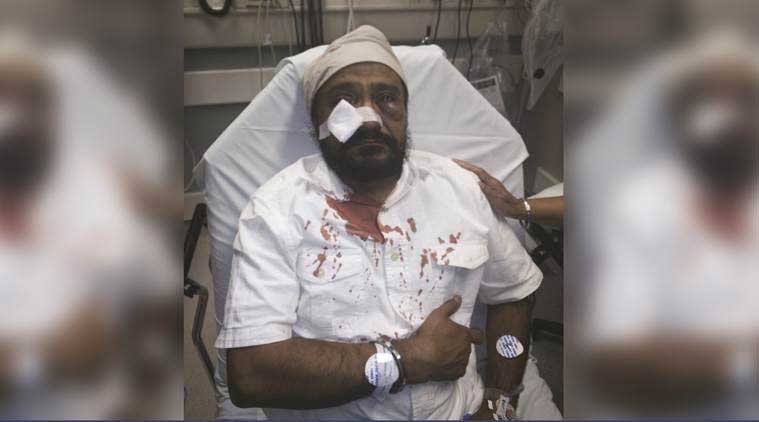 "Inderjit Singh Mukker was assaulted on Tuesday when the assailant pulled up to his car yelling racial slurs, including, ""Terrorist, go back to your country, Bin Laden!"" (Source: The Sikh Coalition)"