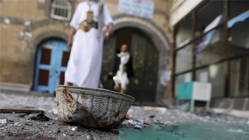 The capital is controlled by Shia Houthis who have driven out Yemen's government [Khaled Abdullah/Reuters]