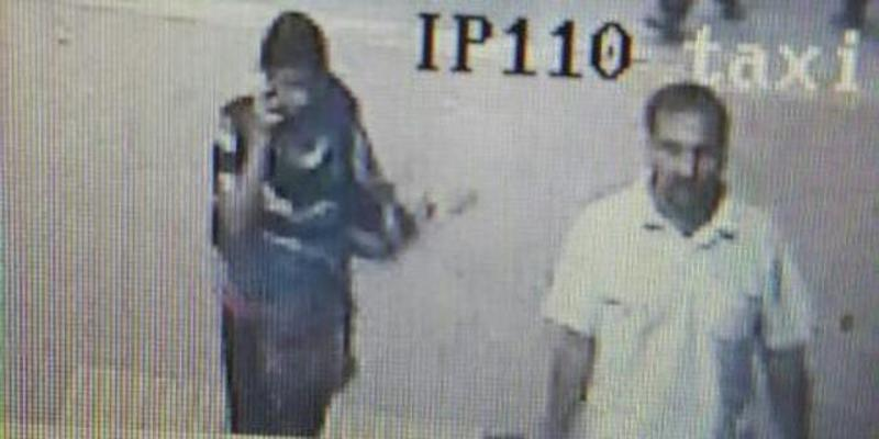 Chandrabhan Sanap (right) is seen with Esther Anuhya in the CCTV footage at the Lokmanya Tilak Terminus on January 5. (File photo)