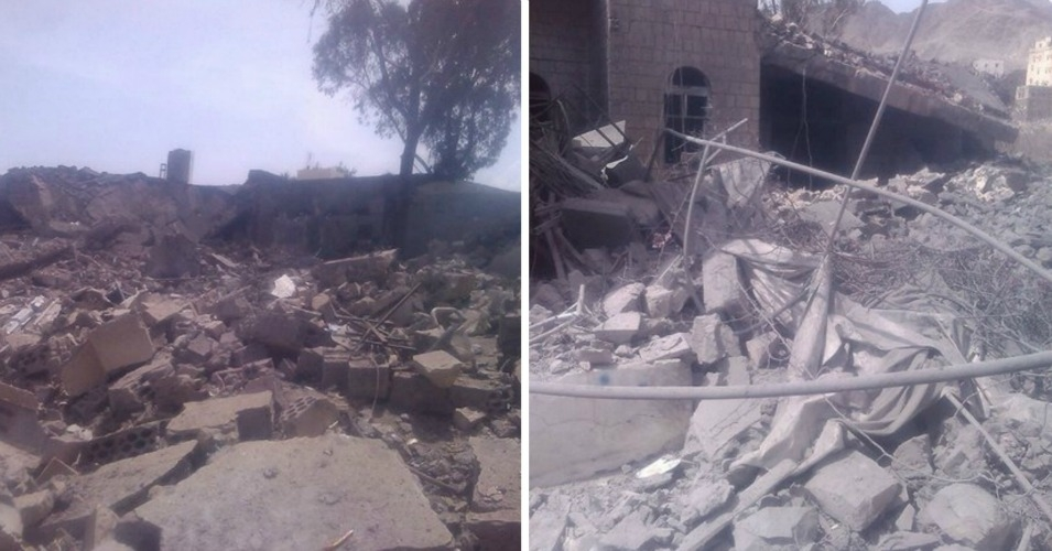Images from Doctors Without Borders hospital in Saada following Monday night's bombing. (Photo: MSF Yemen/Twitter)