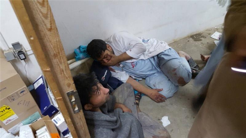 Surviving MSF staff were in shock after the clinic in Kunduz sustained heavy damage in the bombardment [MSF/Al Jazeera]