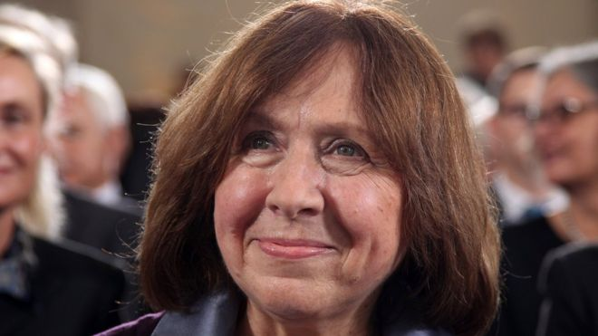 Belarusian Svetlana Alexievich's writing is critical of her home country's government