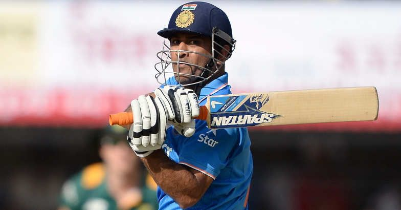 India's captain Mahendra Singh Dhoni plays a shot during the second ODI against South Africa in Indore on Wednesday. AFP