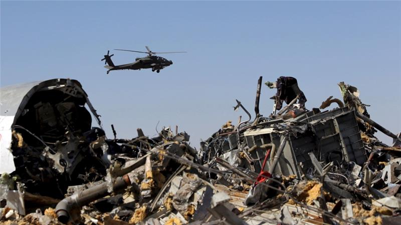 ISIL claimed responsibility for the October 31 crash of the Russian passenger jet in Sinai [Reuters]