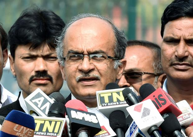 A file photo of activist-lawyer Prashant Bhushan. Photo: PTI