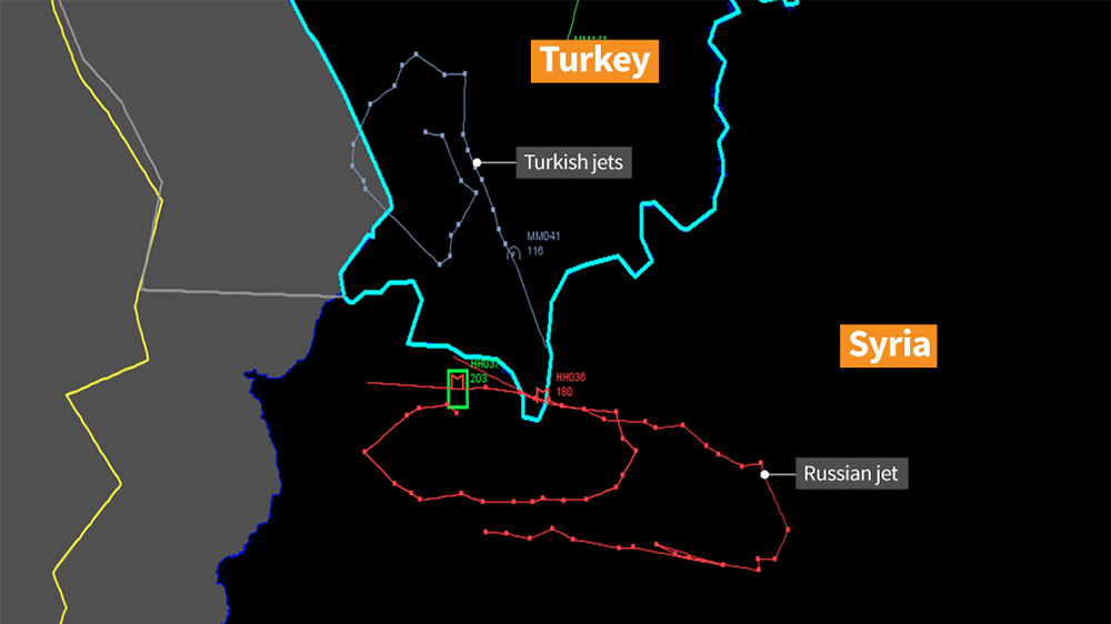 The alleged violation by the Russian warplane according to Turkish authorities