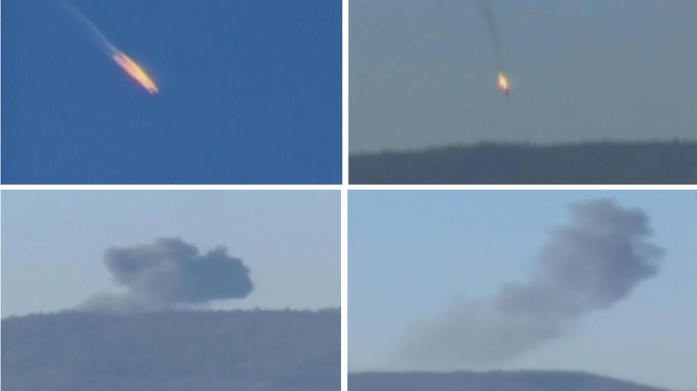 The Russian warplane was shot down by Turkish air-to-air missile near the Syria border on Tuesday [Reuters]