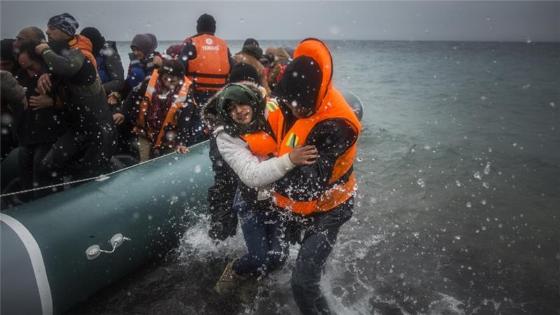 About 850,000 migrants and refugees crossed into Greece last year [AP]