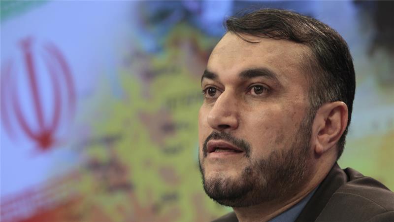Iranian Deputy Foreign Minister Hossein Amir Abdollahian said Iran was 'proud' of Hezbollah [Misha Japaridze/AP]