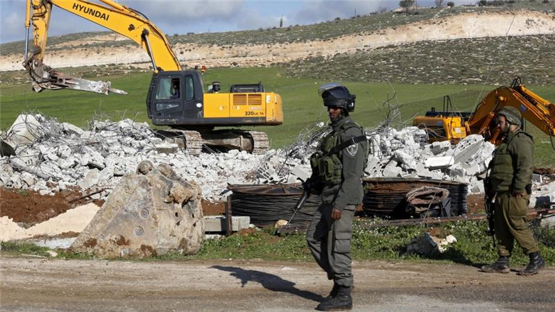 Since the beginning of 2016, Israel has demolished, on average, 29 Palestinian-owned buildings a week, according to the UN [EPA]
