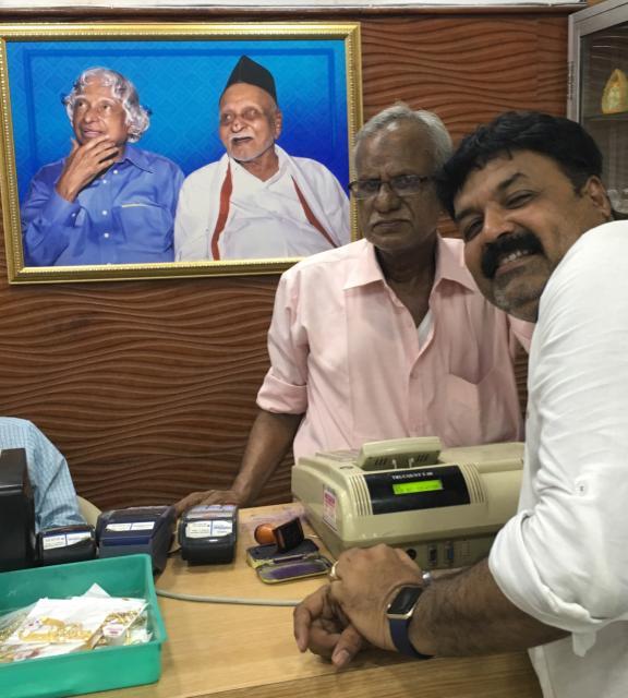 Pramod Gore with relative of Dr APJ Kalam