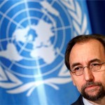 Zeid Ra'ad al Hussein called for major powers to put aside their differences regarding Aleppo [Denis Balibouse/Reuters]