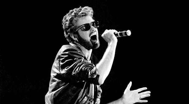 File photo dated 13/07/85 of George Michael of Wham performing at the Live Aid concert at Wembley Stadium in London: PA/PA Wire