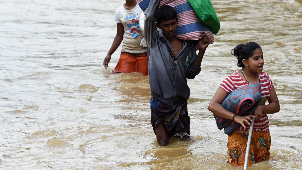 The flooding on Friday is the worst Sri Lanka has seen in 14 years [Ishara S. Kodikara/AFP]