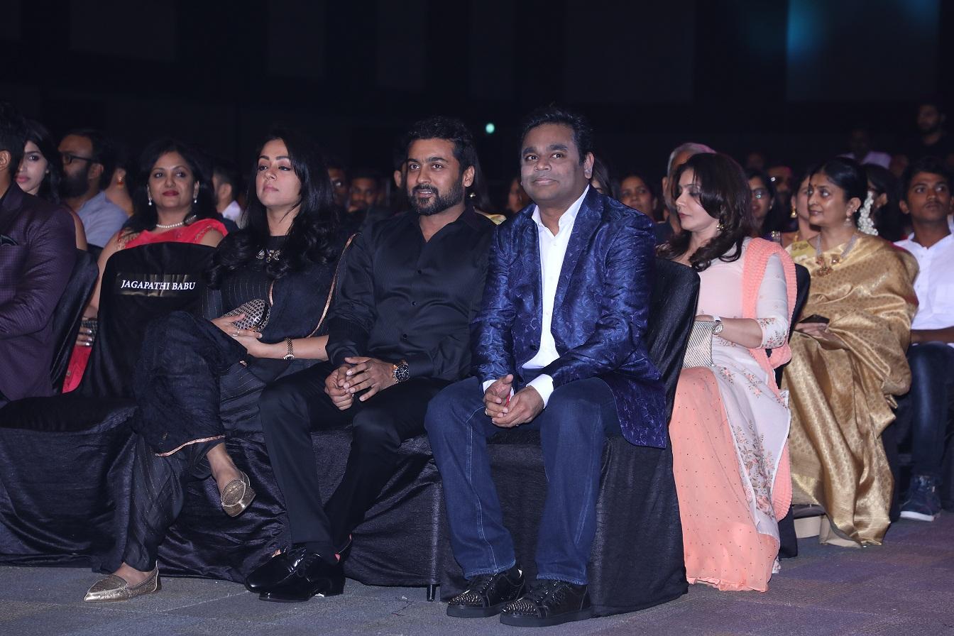 Jyothika, Suriya and A.R rahman 64th JIO Filmfare Awards South 2017