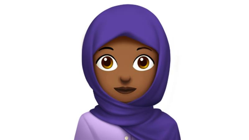 The hijab emoji was approved in November last year [Courtesy Apple]